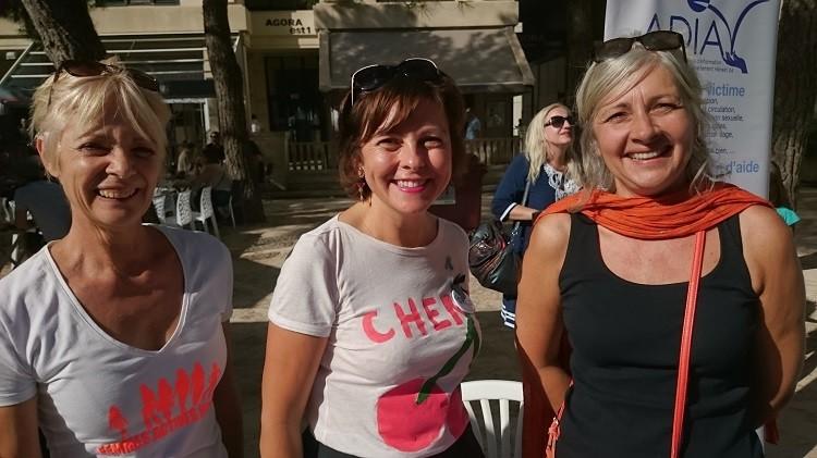 10 sept 2017 - Carole DELGA - Presidente Occitanie sur le stand FAM 01