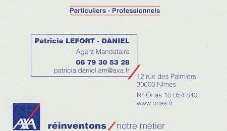 Patricia Lefort Daniel - Agent mandataire AXA Alès et Nimes