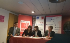 3 decembre 2014 - Forum de la Creation Entreprise  - Signature de la Convention