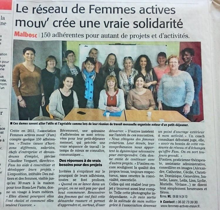 La Presse - article Midi Libre mars 2016