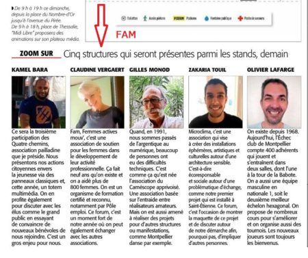 MIDI LIBRE - Stand FAM Antigone des Associations