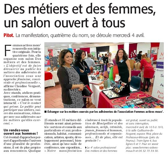 Article Midi Libre Salon 4 avril 2018