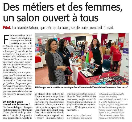 Article Midi Libre Salon 4 avril 2018