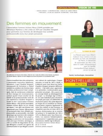 Article FAM Montpellier Notre Ville septembre 2018