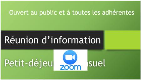 Réunion information sur Zoom