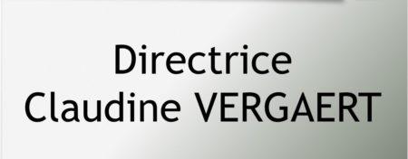 Directrice - Claudine VERGAERT