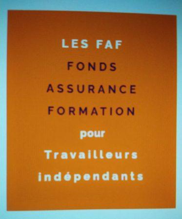 vignette orange avec écrit FAF - Fonds Assurance Formation pour les travailleurs indépendants
