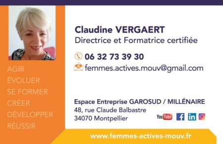 Claudine VERGAERT - Directrice Femmes Actives Mouv et Formatrice